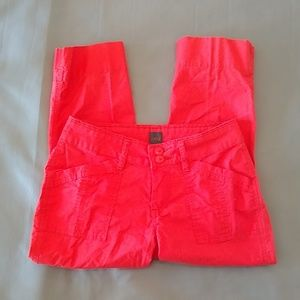 3/$15 Jag Jeans bright coral cropped pants